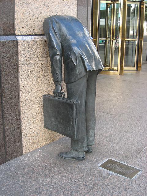 Bronze Sculpture Headless Worker