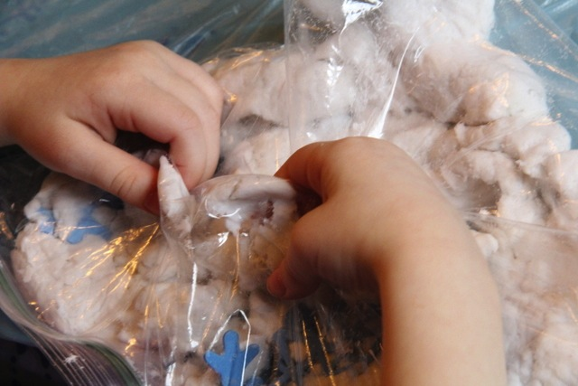 Snowy Sensory Bags