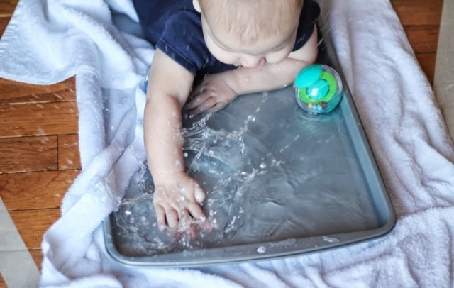 Tummy Time with Water