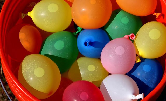 Water balloons in buckt eflon Flickr CC