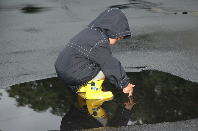 puddle-stomping